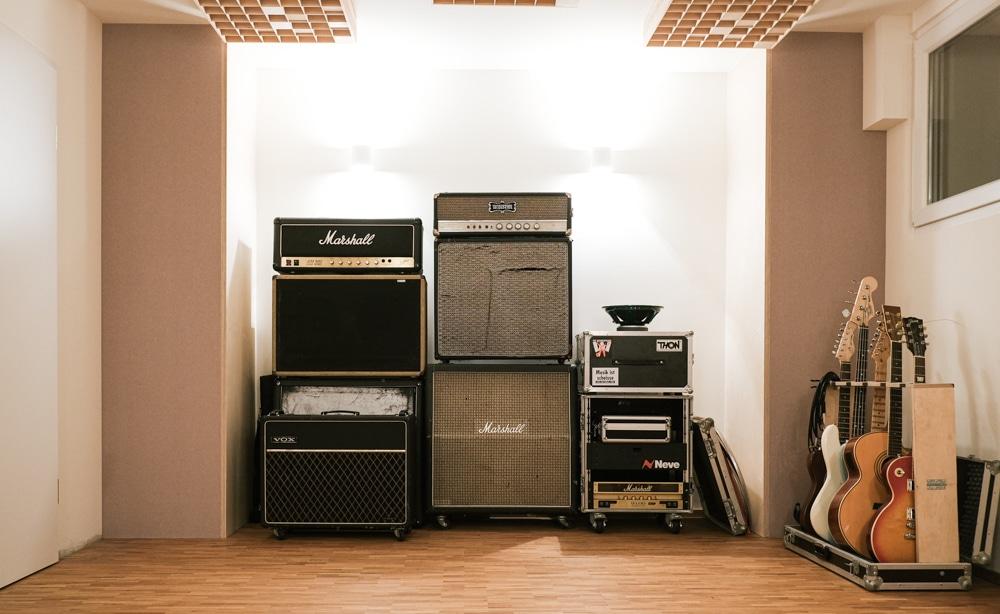 Tonstudio Blackmount Reecordings Studiobild Marshall